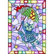 """Канва/ткань с нанесенным рисунком Матрёнин посад """"Витраж волшебный кот"""""""