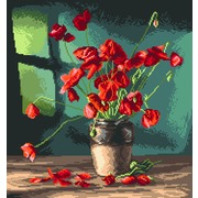 "Канва/ткань с нанесенным рисунком Матрёнин посад ""Маки"""