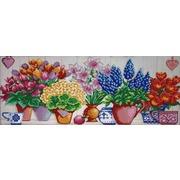 """Канва/ткань с нанесенным рисунком Конёк """"Цветочный ряд"""""""