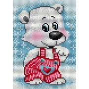"""Набор для выкладывания мозаики Вышиваем бисером """"Белый мишка"""""""