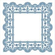 """Набор для вышивания крестом Каролинка """"Зимняя сказка"""" салфетка"""