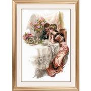 """Набор для вышивания крестом Риолис """"Первый вечер в собственном доме (Х. Фишер)"""""""