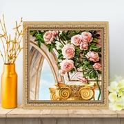 """Набор для выкладывания мозаики Алмазная живопись """"Арка и розы"""""""