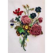 """Набор для вышивания лентами Любава """"Букет с розами"""""""