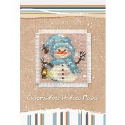 """Набор для вышивания крестом Алиса """"Открытка. Снеговик"""""""
