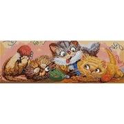 """Канва/ткань с нанесенным рисунком Конёк """"Игровые котята"""""""