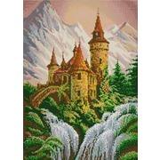 """Канва/ткань с нанесенным рисунком Конёк """"Замок в горах"""""""