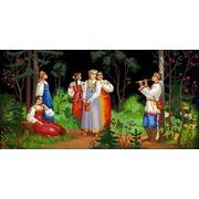 """Канва/ткань с нанесенным рисунком Конёк """"Сбор ягод"""""""