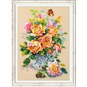 """Набор для вышивания крестом Чудесная игла """"Чайные розы"""""""