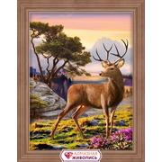 """Набор для выкладывания мозаики Алмазная живопись """"Благородный олень"""""""