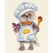 """Набор для вышивания крестом Алиса """"Барсик шеф-повар"""""""