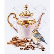 """Набор для вышивания крестом Алиса """"Ценитель кофе"""""""