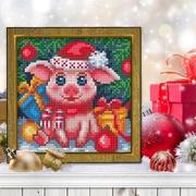 """Набор для выкладывания мозаики Алмазная живопись """"Новогодняя свинка"""""""