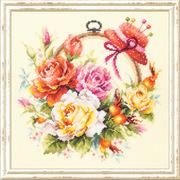 """Набор для вышивания крестом Чудесная игла """"Розы для мастерицы"""""""
