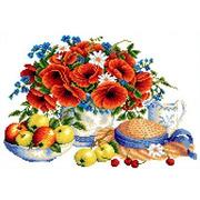 """Канва/ткань с нанесенным рисунком Каролинка """"Летние дары"""""""