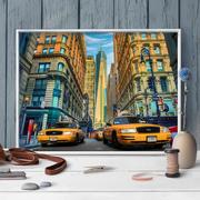 """Набор для выкладывания мозаики Алмазная живопись """"Такси Нью-Йорка"""""""