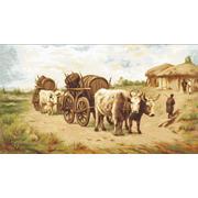 """Набор для вышивания крестом Luca-S """"Повозка с волами"""""""