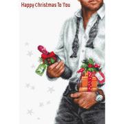 """Набор для вышивания крестом Luca-S """"Счастливое рождество"""""""