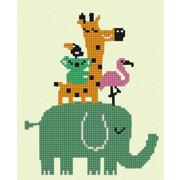 """Канва/ткань с нанесенным рисунком Конёк """"Дружный зоопарк"""""""