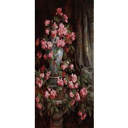 """Канва/ткань с нанесенным рисунком Конёк """"Китайская роза"""""""