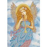 """Канва/ткань с нанесенным рисунком Конёк """"Играющий ангел"""""""