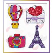 """Набор для вышивания крестом Овен """"Путешествие в Париж"""""""