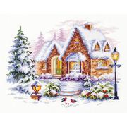"""Набор для вышивания крестом Чудесная игла """"Зимний домик"""""""