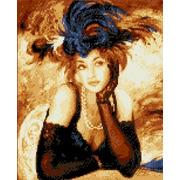 """Канва/ткань с нанесенным рисунком Каролинка """"Ожидание"""""""