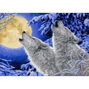 """Канва/ткань с нанесенным рисунком Каролинка """"Лунная соната"""""""