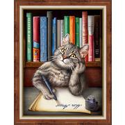 """Набор для выкладывания мозаики Алмазная живопись """"Кот ученый"""""""