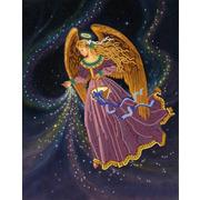 "Канва/ткань с нанесенным рисунком Конёк ""Звёздный ангел"""