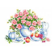 """Канва/ткань с нанесенным рисунком Каролинка """"Летнее утро"""""""