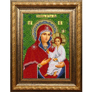 """Набор для вышивания бисером Вышиваем бисером """"Тихвинская икона Божией Матери"""""""