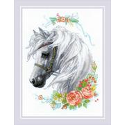 """Набор для вышивания крестом Риолис """"Белогривая лошадка"""""""