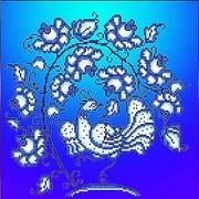 """Канва/ткань с нанесенным рисунком Божья коровка """"Гжель"""""""