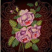 """Канва/ткань с нанесенным рисунком Божья коровка """"Бархатная роза"""""""