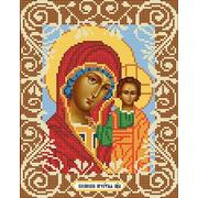 """Канва/ткань с нанесенным рисунком Божья коровка """"Богородица Казанская"""""""