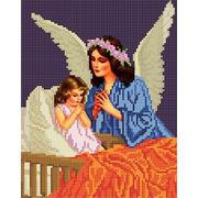 """Канва/ткань с нанесенным рисунком Божья коровка """"Ангел"""""""