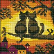 """Набор для выкладывания мозаики Белоснежка """"Две Кошки"""""""