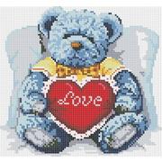 """Набор для выкладывания мозаики Белоснежка """"Медвежонок с сердцем"""""""