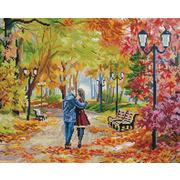 """Набор для выкладывания мозаики Белоснежка """"Осенний парк, скамейка, двое"""""""