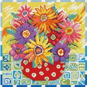 """Набор для выкладывания мозаики Белоснежка """"Цветики цветочки"""""""