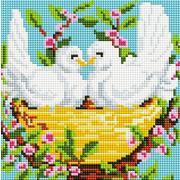 """Набор для выкладывания мозаики Белоснежка """"Пара голубей"""""""