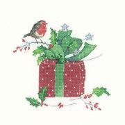 """Набор для вышивания крестом Heritage """"Рождественский подарок"""""""