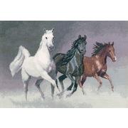 """Набор для вышивания крестом Heritage """"Дикие кони"""""""
