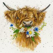 """Набор для вышивания крестом Bothy Threads """"Daisy Coo"""" (Бычок с ромашкой)"""
