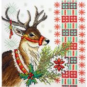 """Набор для вышивания крестом Марья искусница """"Новогодний олень"""""""