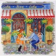 """Набор для вышивания крестом Марья искусница """"Уличное кафе"""""""