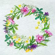 """Набор для вышивания крестом Марья искусница """"Полевые цветы"""" (может использоваться для создания подушки)"""