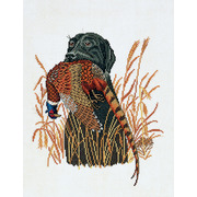 """Набор для вышивания крестом Eva Rosenstand """"Собака и фазан"""""""